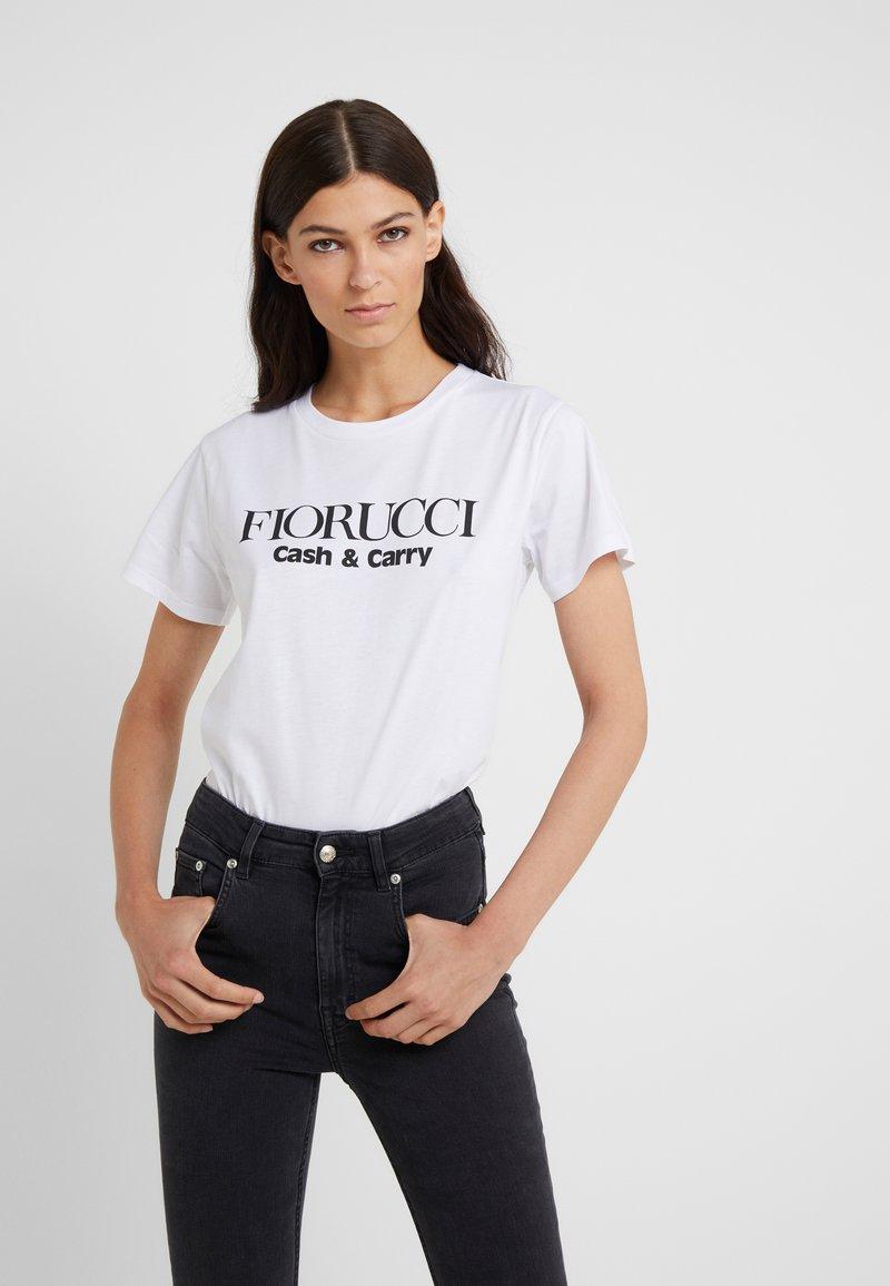 Fiorucci - CASH & CARRY  - Print T-shirt - white