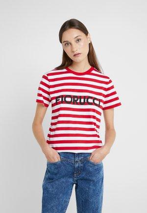STRIPE CLASSIC - Print T-shirt - red