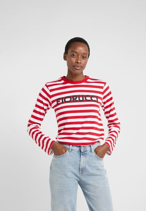 CLASSIC LONG SLEEVE TEE - Long sleeved top - red/white