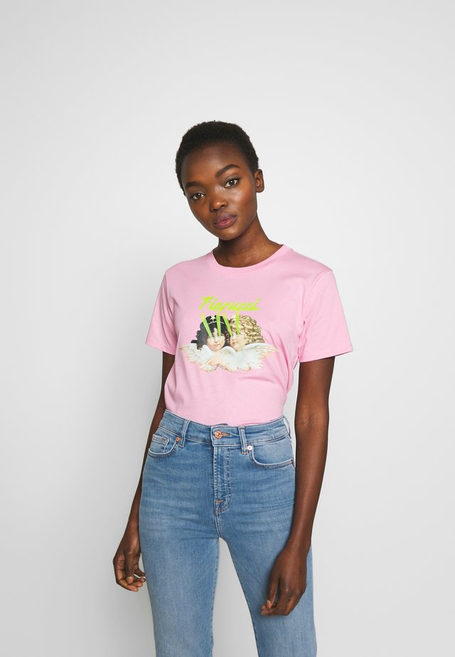 ANGELS LASER TEE - T-shirts print - pink