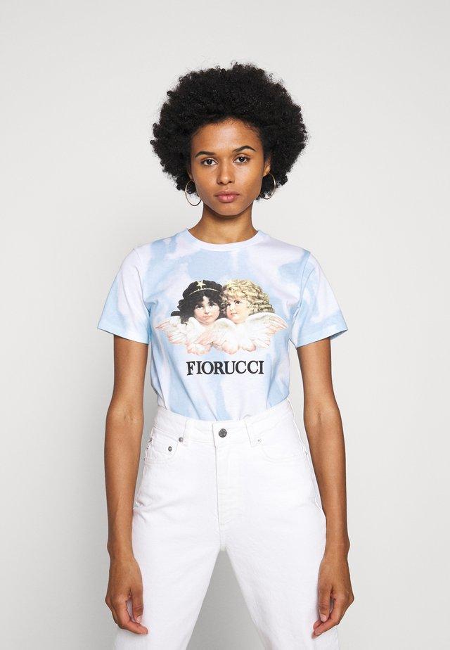 TIE DYE ANGELS TEE  - T-shirt med print - blue