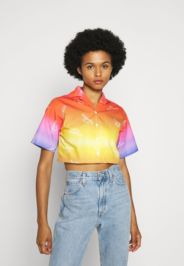 RAINBOW CROP BOWLING - Button-down blouse - multi