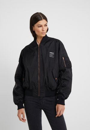 LOU BOMBER RAPTURE ROSE - Bomberjacke - black