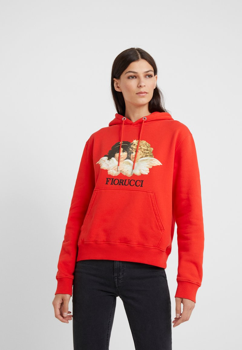 Fiorucci - VINTAGE ANGELS HOODIE - Kapuzenpullover - blood orange