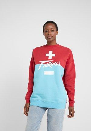 HIGH VOLTAGE - Sweatshirt - red/blue