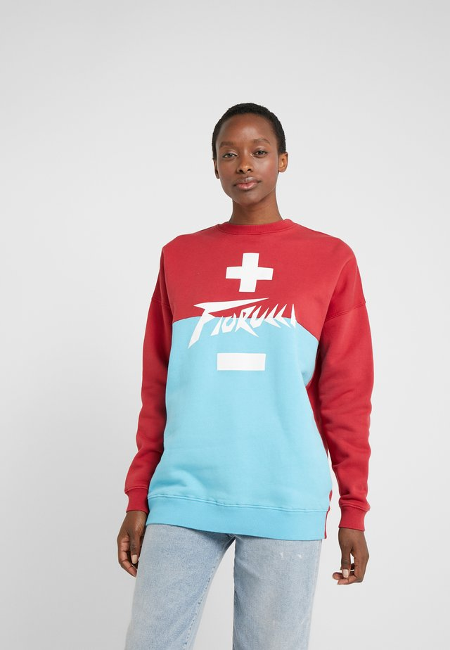 HIGH VOLTAGE - Sweater - red/blue