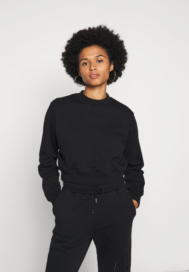 LOGO CROP - Sweatshirt - black