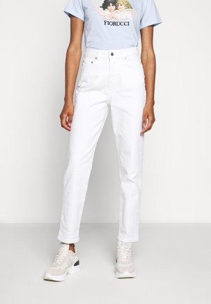 TARA ANGELS PATCH - Jeans straight leg - white