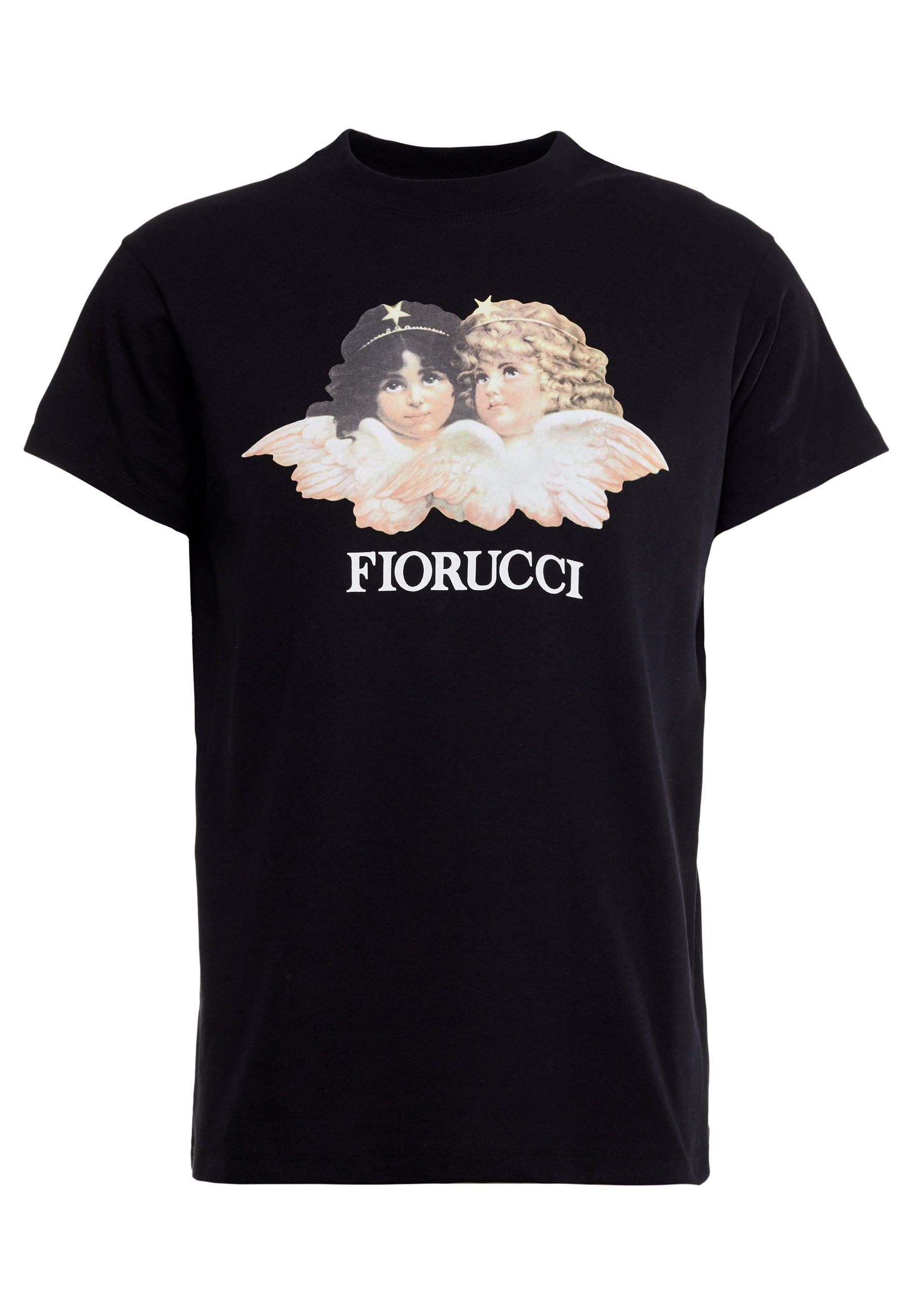 Fiorucci Vintage Angels - T-shirts Print Black