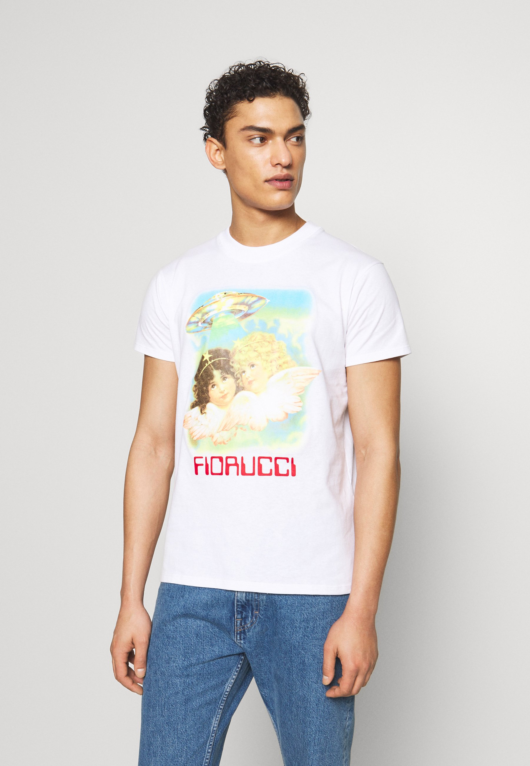 Fiorucci MEN'S ANGELS UFO TEE - T-shirt z nadrukiem - white