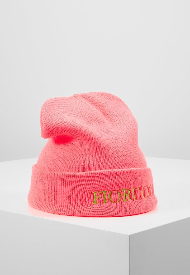 Fiorucci - BEANIE WITH EMBROIDERED LOGO - Čepice - neon pink
