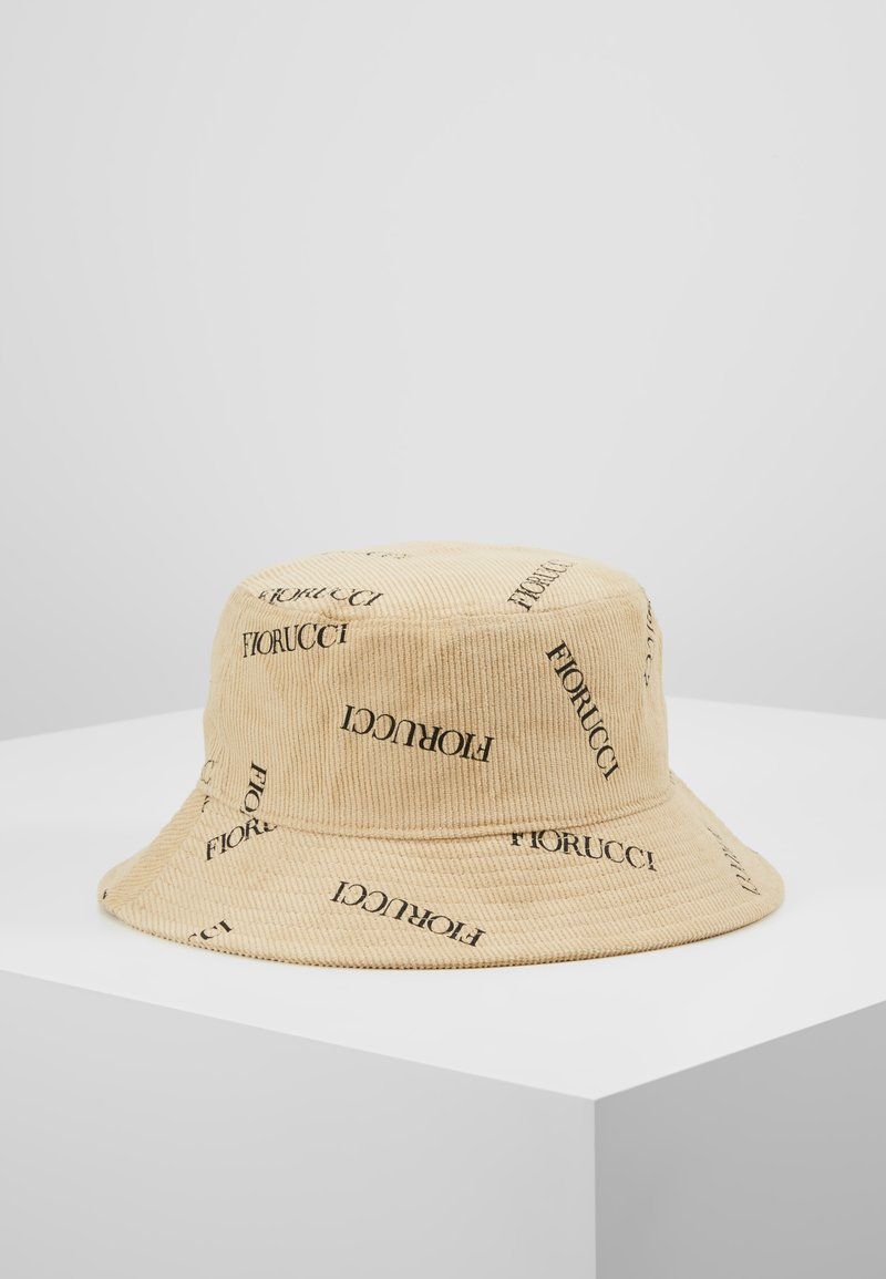 Fiorucci - LOGO BUCKET HAT - Klobouk - stone grey