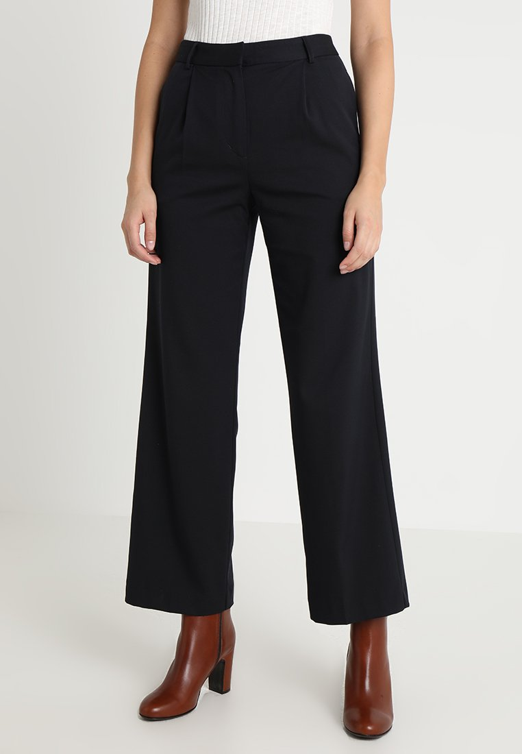 Finery London - HOLTBY  WIDE LEG TROUSERS - Trousers - navy