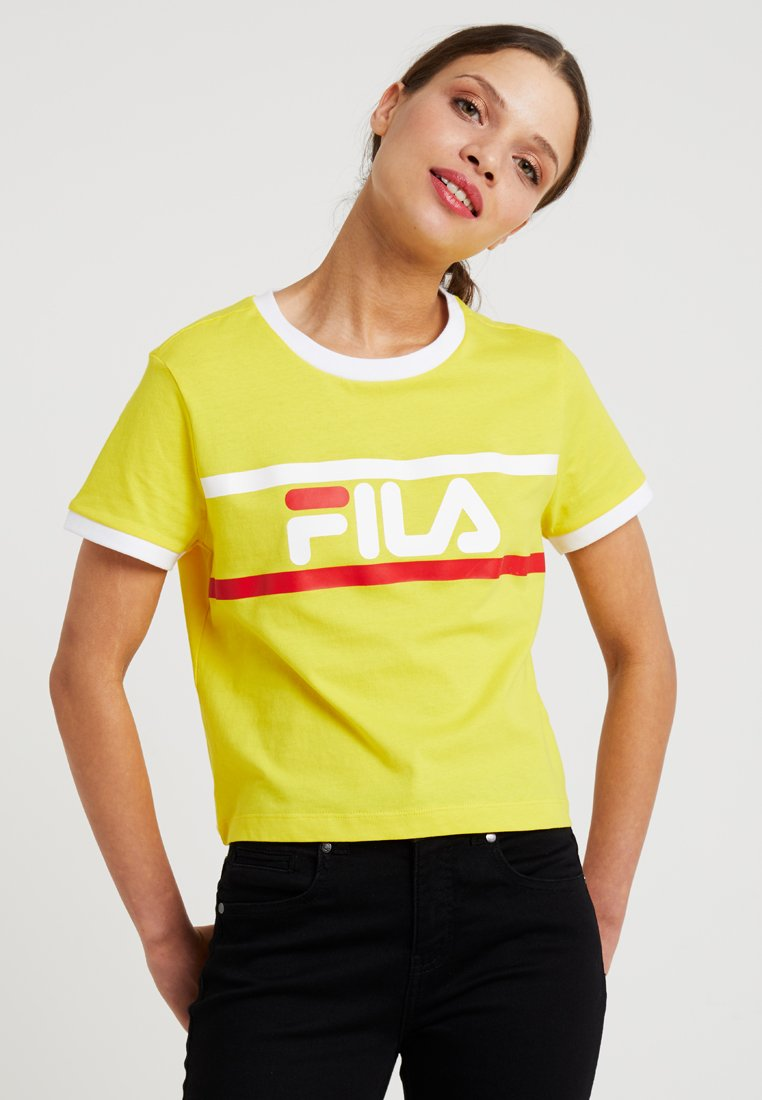 Fila Petite - ASHLEY CROPPED TEE - T-Shirt print - empire yellow
