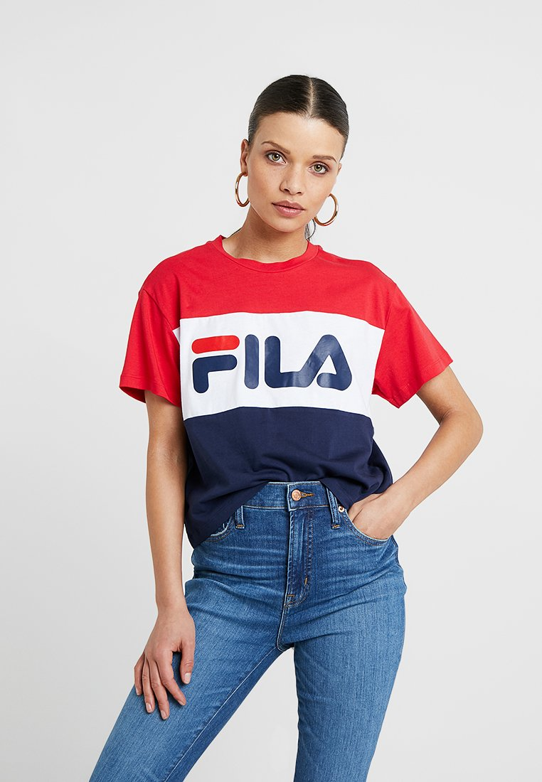 Fila Petite - ALLISON TEE - T-shirt imprimé - black iris/true red/bright white