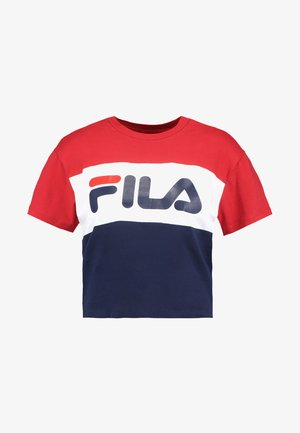 ALLISON TEE - Camiseta estampada - black iris/true red/bright white