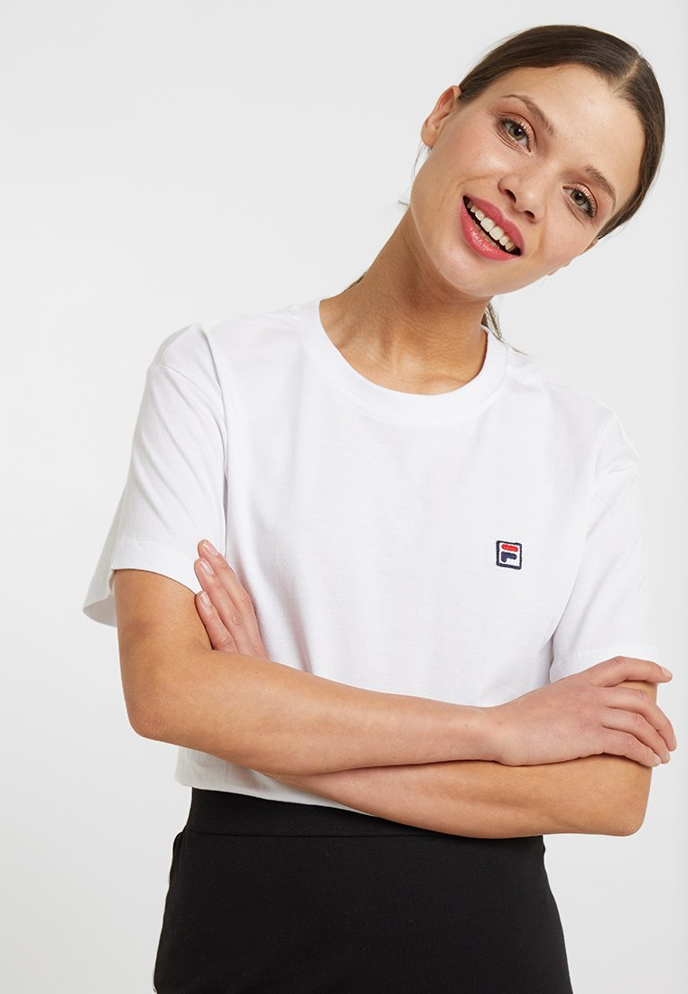 Fila Bright Cropped shirt Basic White TeeT Petite 0ZONnPXk8w