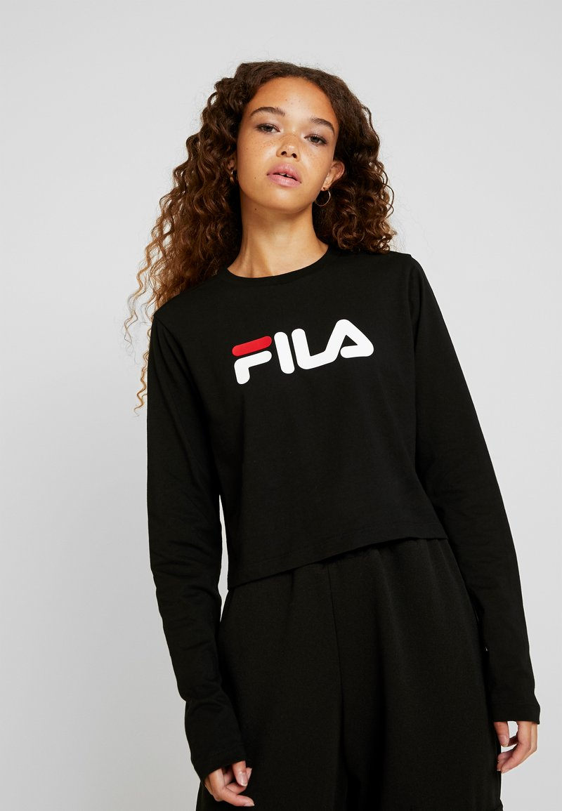 Fila Petite - CROPPED LONG SLEEVED - Top s dlouhým rukávem - black