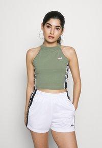 Fila Petite - TAMACROPPED  - Camiseta estampada - sea spray - 0