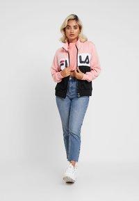 Fila Petite - BRONTE TRACK JACKET - Giacca sportiva - black/quarz pink/bright white - 1