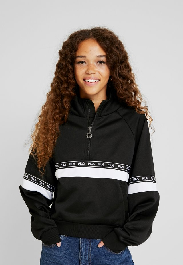 CHINAMI HALF ZIP - Trainingsjacke - black/bright white