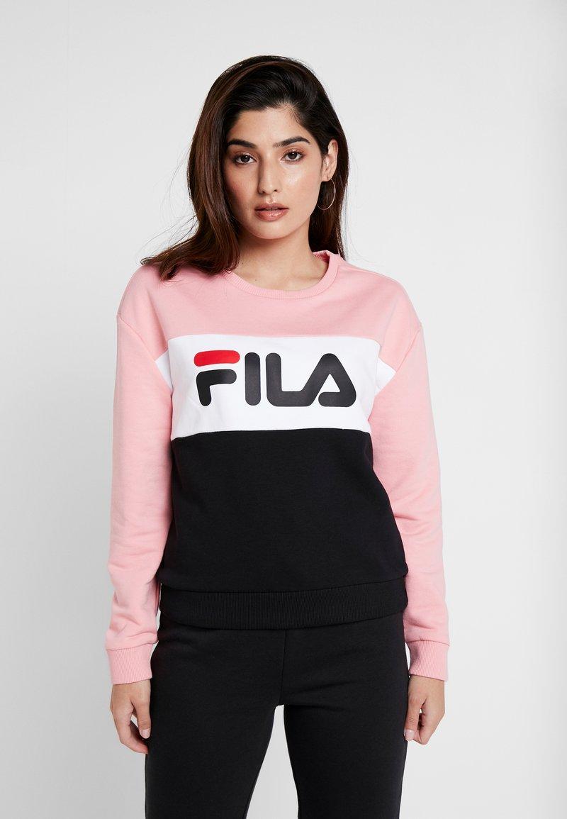 Fila Petite - LEAH CREW - Collegepaita - black/pink/bright white
