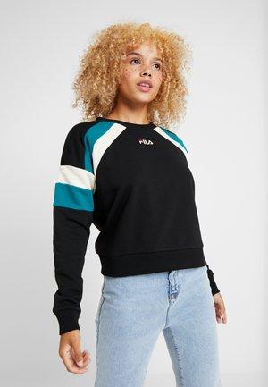 EIBHLEANN CREW - Sweatshirt - black/whitecap gray/everglade