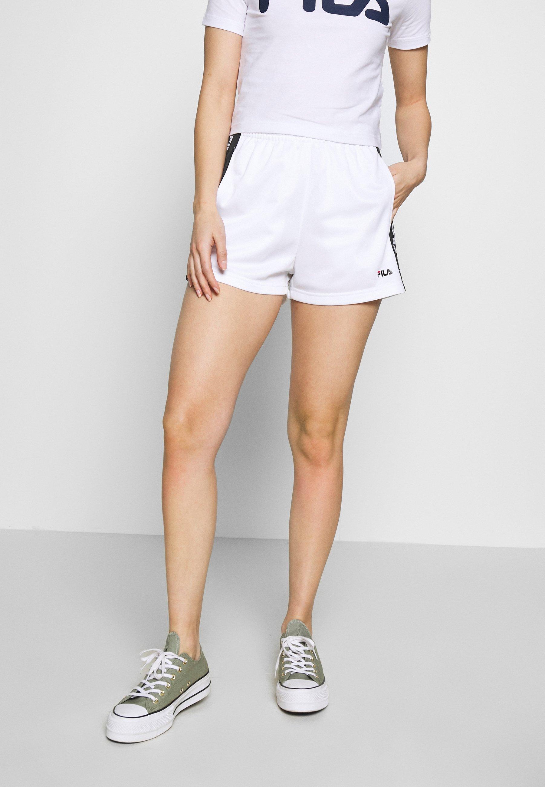 Fila Petite TARIN HIGH WAIST PETITE - Szorty - bright white/black