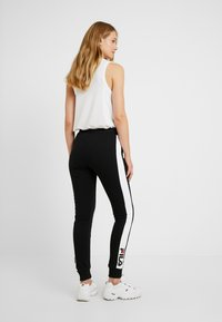 Fila Tall - FREYA SLIM  - Pantalones deportivos - black/bright white - 2
