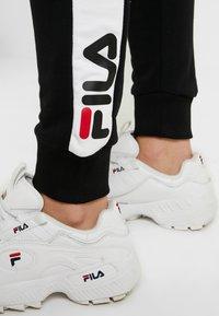 Fila Tall - FREYA SLIM  - Pantalones deportivos - black/bright white - 3