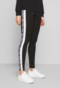 Fila Tall - TASYA - Leggings - Trousers - black/bright white - 0