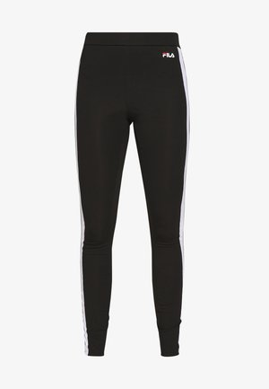 TASYA - Leggings - Trousers - black/bright white