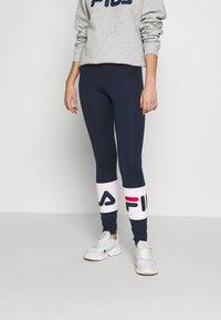 Fila Tall - BALLARI - Leggings - Trousers - black iris/bright white - 0