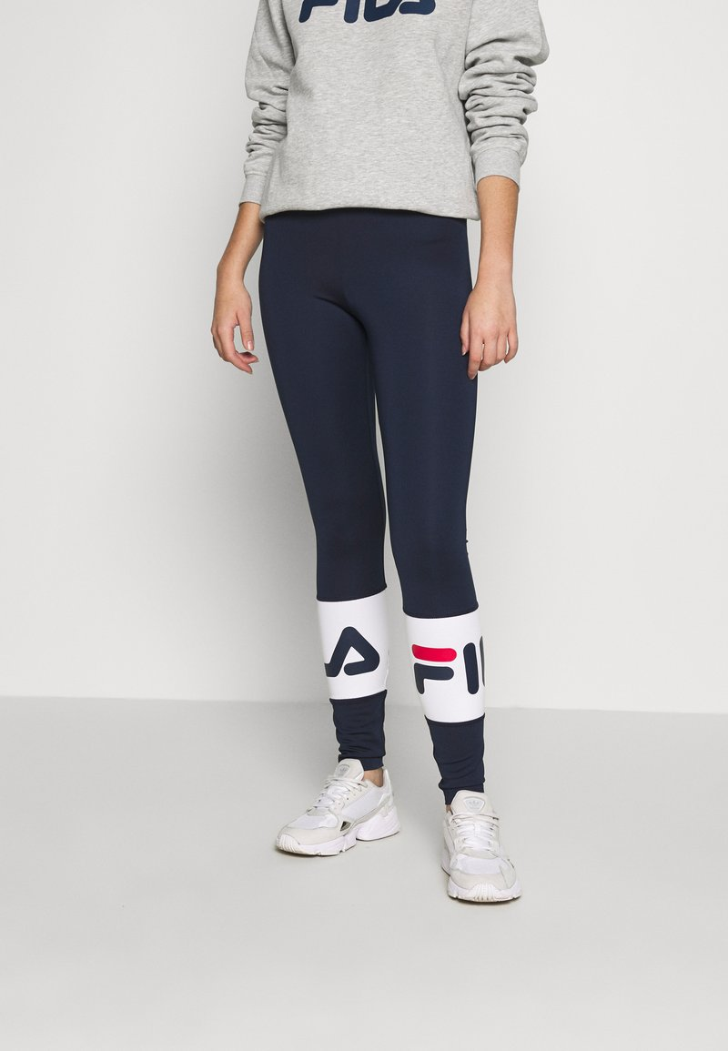 Fila Tall - BALLARI - Leggings - Trousers - black iris/bright white