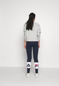 Fila Tall - BALLARI - Leggings - Trousers - black iris/bright white - 2