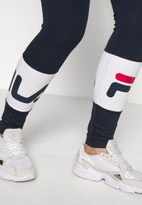 Fila Tall - BALLARI - Leggings - Trousers - black iris/bright white - 3