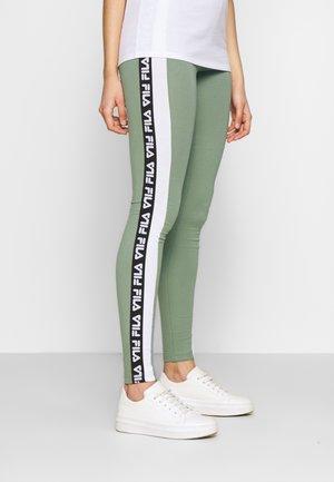 TASYA - Leggings - Trousers - sea spray/bright white