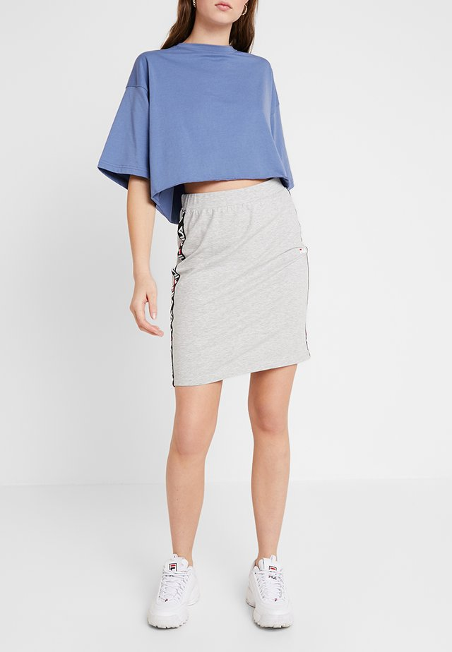 MAHA SKIRT - Jupe crayon - light grey melange