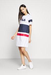 Fila Tall - BASANTI TEE DRESS - Day dress - bright white/black iris/true red - 1