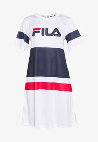 Fila Tall - BASANTI TEE DRESS - Day dress - bright white/black iris/true red - 3