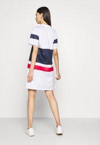 Fila Tall - BASANTI TEE DRESS - Day dress - bright white/black iris/true red - 2