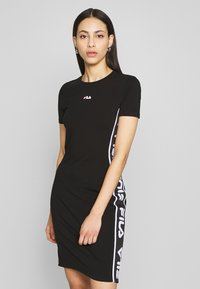 Fila Tall - TANIEL TEE DRESS TIGHT FIT - Vestido de tubo - black - 0