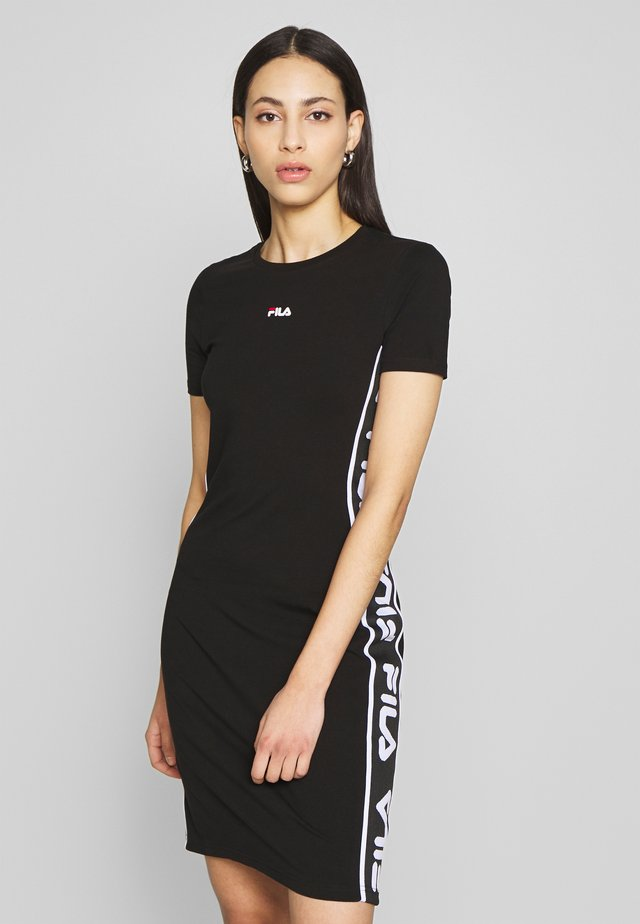 TANIEL TEE DRESS TIGHT FIT - Etuikjoler - black