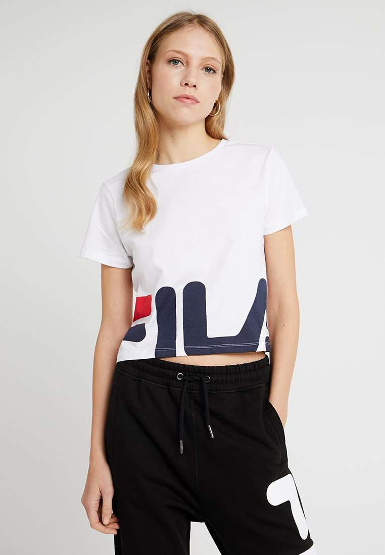 Fila Tall - EARLY CROPPED - T-Shirt print - bright white
