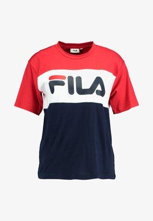 ALLISON TEE - T-Shirt print - black iris/bright white/true red