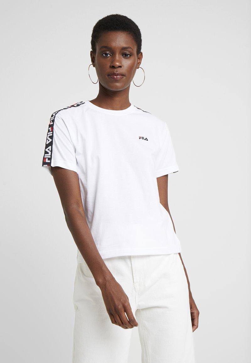 Fila Tall - ADALMIINA TEE - T-Shirt print - bright white