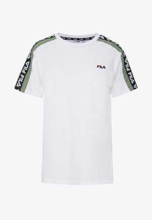 TANDY TEE - Print T-shirt - bright white/sea spray