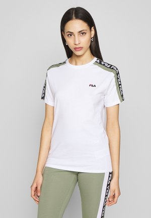 TANDY TEE - Print T-shirt - bright white/sea spray