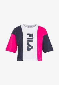 Fila Tall - CROPPED TEE - Print T-shirt - pink yarrow/black iris/bright white - 4