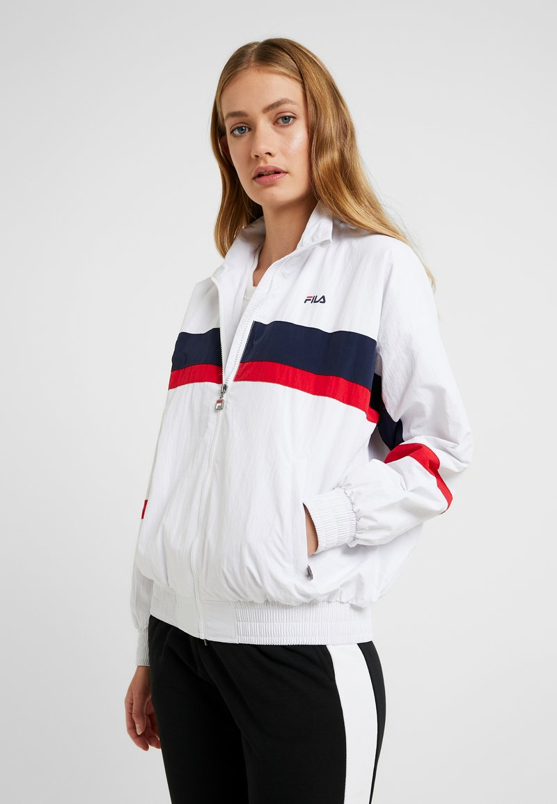 Fila Tall - KAYA WIND JACKET - Sportovní bunda - bright white/black iris/true red